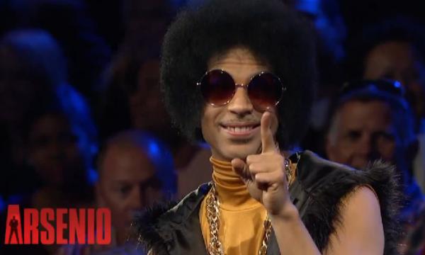 Prince visits Arsenio Hall Show