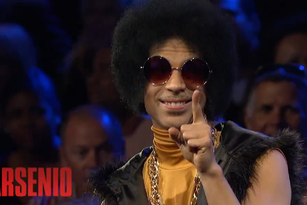 Prince visits Arsenio Hall Show