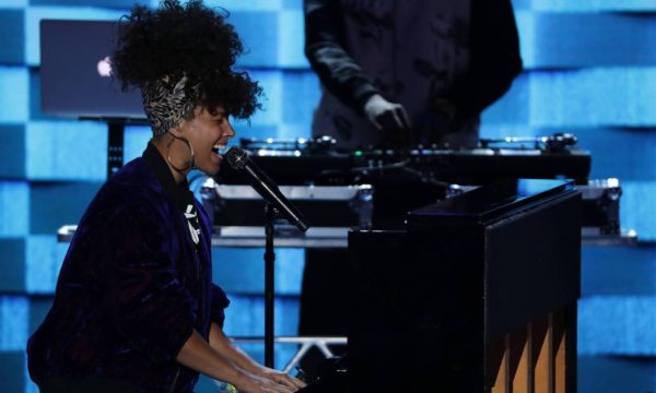 Alicia Keys performs at Democratic National Convention