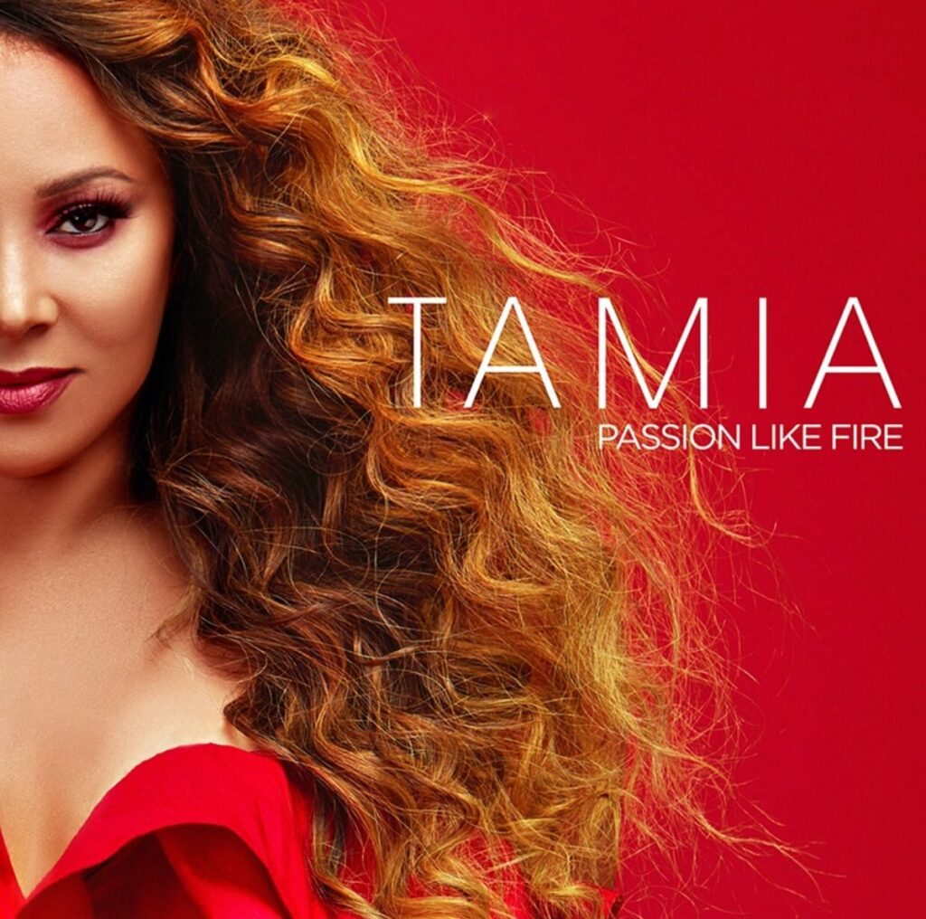 Artwork for Tamia's new album Passion Like Fire