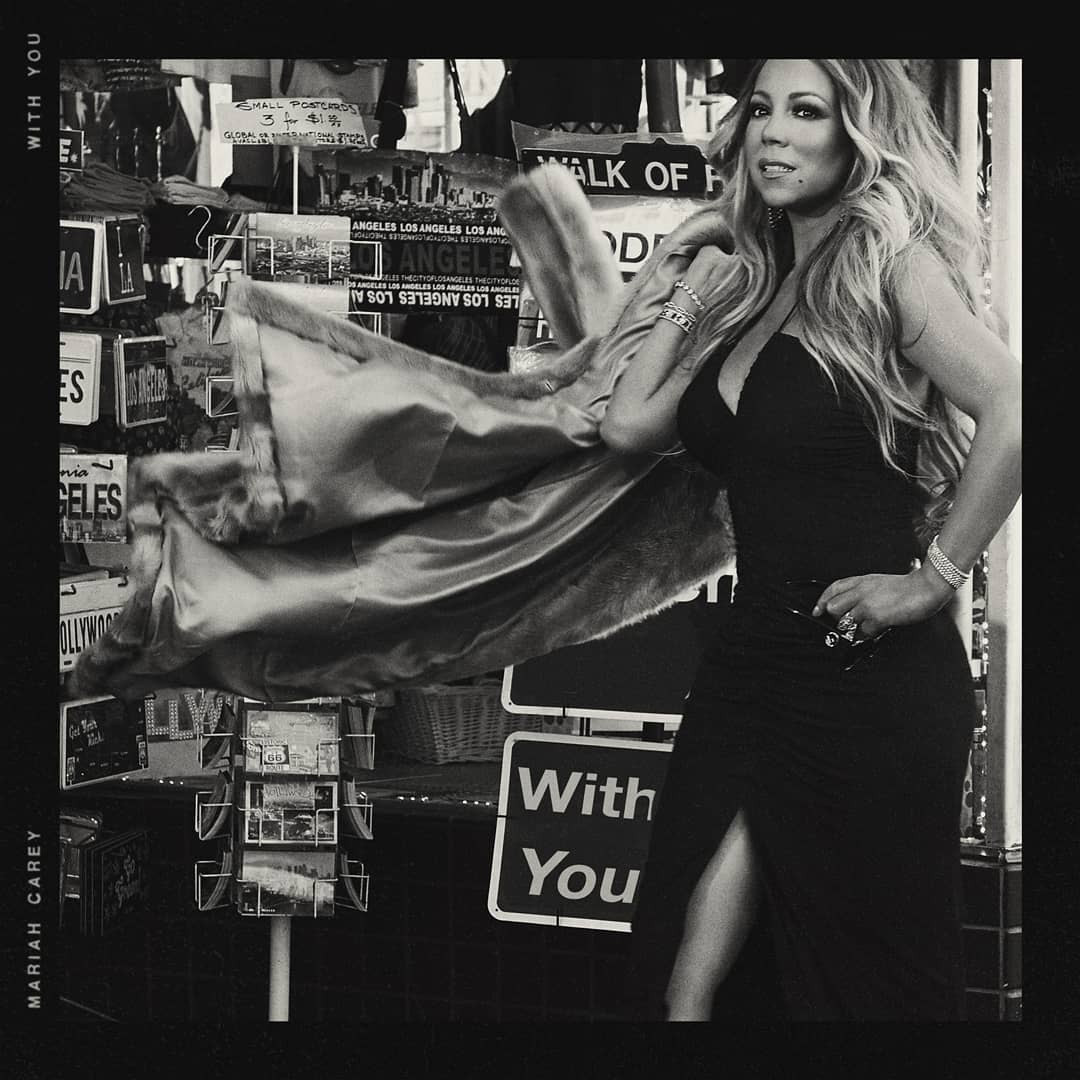 """Mariah Carey """"With You"""" single cover"""
