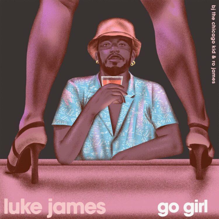 """Luke James """"Go Girl"""" single cover"""