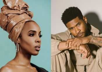 "Kelly Rowland and Usher in ""Bad Hair"" movie"